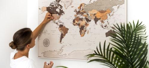 detailed safari map