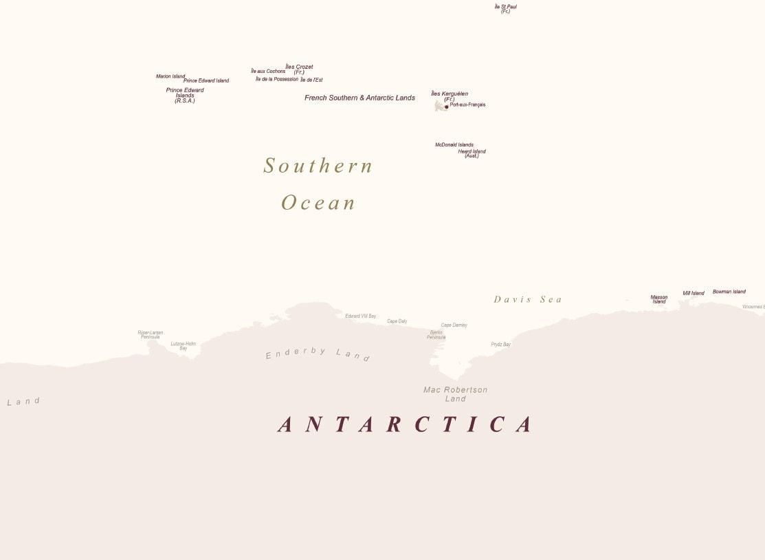 antarktica detailed map