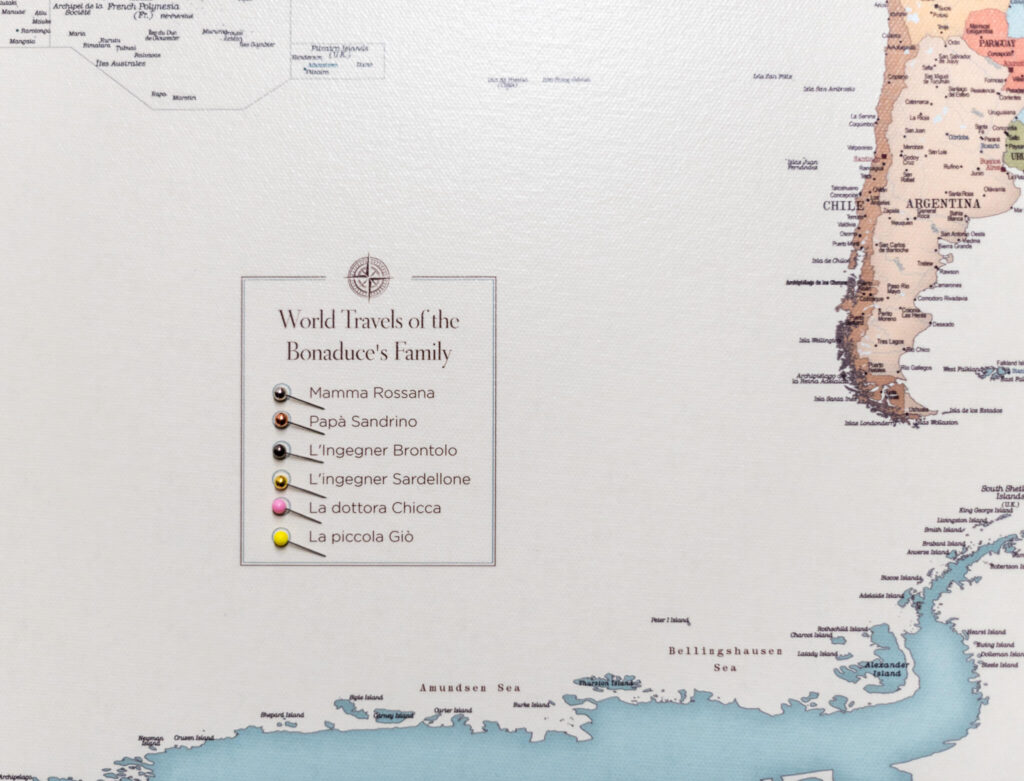 extra large personalized travel map on canvas