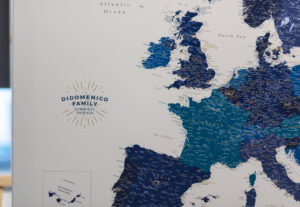 large personalized europe map with cities