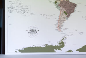 personalized large world map to pin places visited