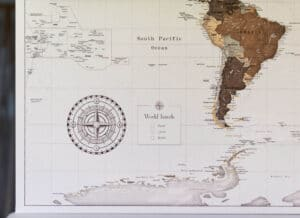 personalized safari world map with pins