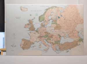 personalized travel europe map with pins