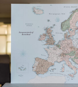 political personalized europe map on canvas