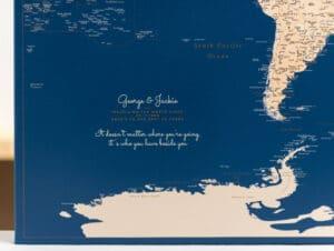 travel destination map personalization