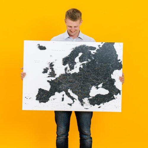 push pin europe map tripmap black
